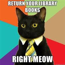 All library books are due back now!!
